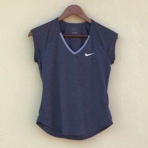 Nike Dri-Fit Sleeveless T in Charcoal, Size S